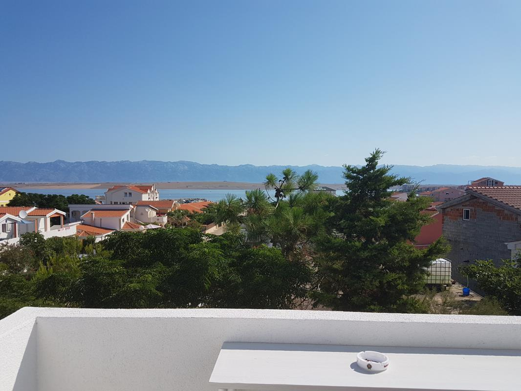 Apartman SeaView - velika terasa s pogledom na more