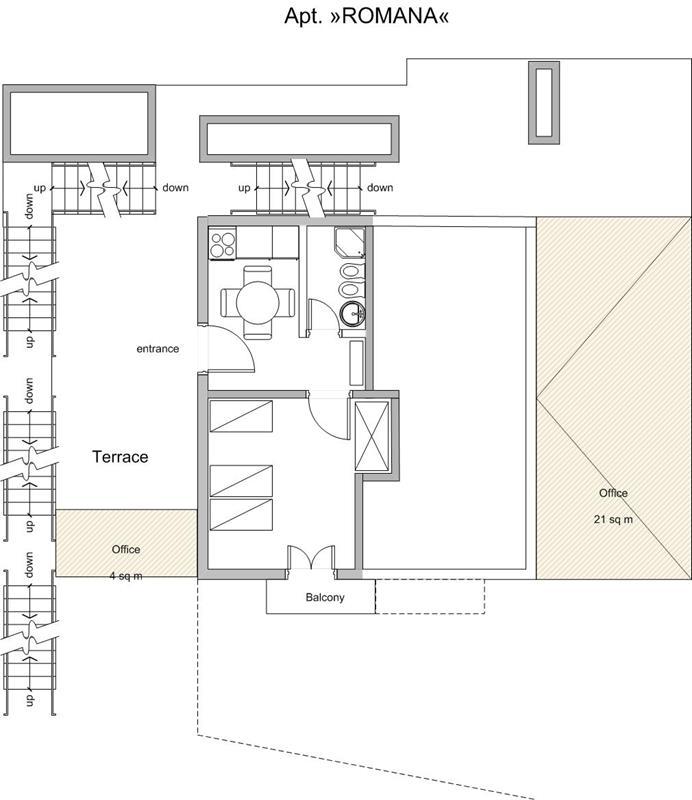 """Saplunara - Apartman """"ROMANA"""" smješten na 39m nadmorske visine"""