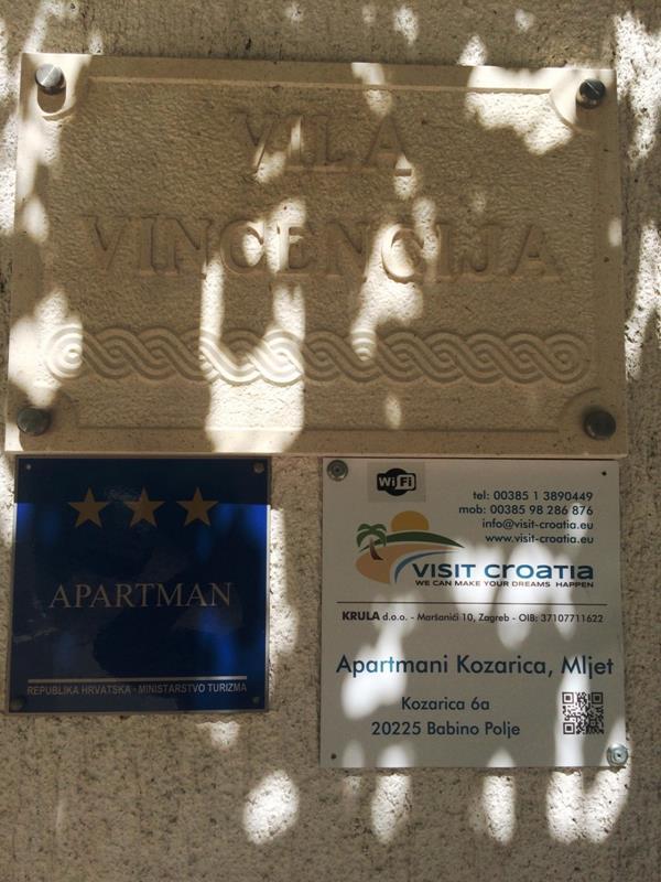 Mljet/Villa Vincencija, Ap  3 (2 osobe), 10 M OD MORA, POPUST 30%!