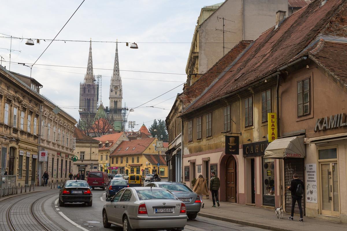 Apartmán (2+0) Donji Grad, Záhřeb, Chorvatsko